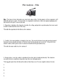 Movie Plot Elements, Great End-of-Year or Substitute Activity, Standards Based