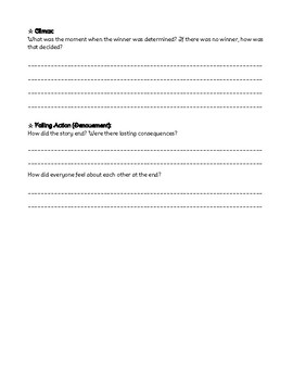 Plot Arc of Personal Story Worksheet