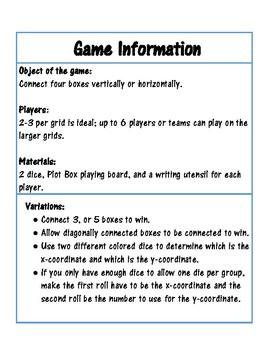 Plot Box - A point plotting math game