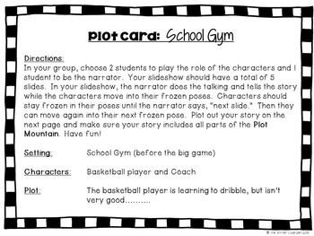 Plot Cards for Creative Writing, Drama, & Brain Breaks