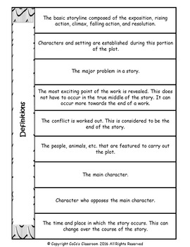 Plot, Character, Setting Presentation and Guided Notes