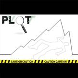 Plot Chart Diagram Arc - PowerPoint Notes Crime Scene - Freytag's Pyramid