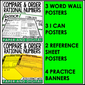 Plot Compare And Order Rational Numbers Lesson Bundle