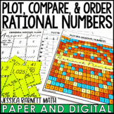 Plot, Compare, and Order Rational Numbers Lesson Bundle | Distance Learning