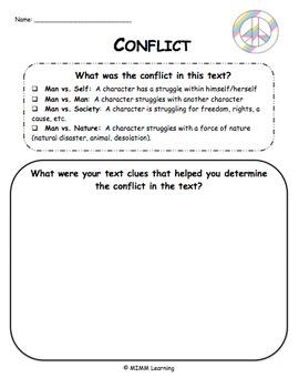 Plot Conflict Graphic Organizer - Universal