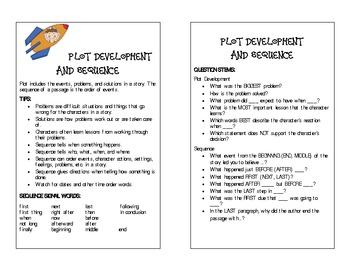 Plot Development Bookmark