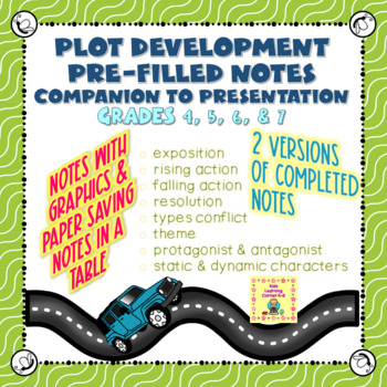 Plot Development Notes - Companion to Power Point Presentation - Completed Notes