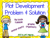 Plot Development: Problem & Solution Graphic Organizers & Flip Book Foldable