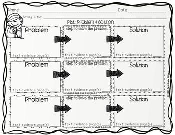 Plot Development Problem Amp Solution Graphic Organizers