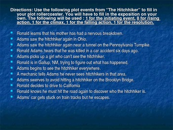 "Plot Diagram Activity - ""The Hitchhiker"""