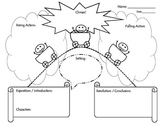 Plot Diagram, Narrative Writing Map, Story Map