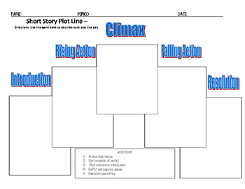Plot diagram with short story teaching resources teachers pay plot diagram short story plot line quiz ccuart