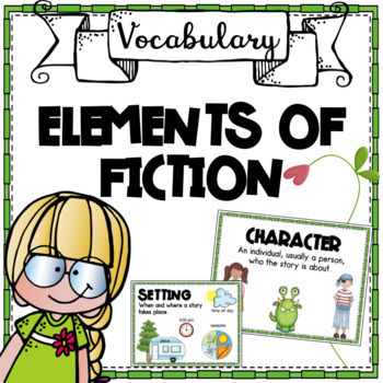 Elements of Fiction Posters - Green Border