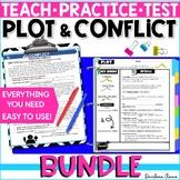 Plot Elements & Conflict Slideshow, Notes, Worksheets, Tes