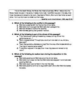 Plot Elements Formative Assessment