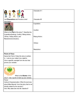 Plot Elements Graphic Organizer for
