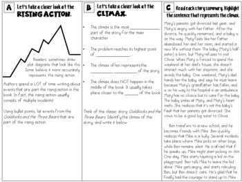 Plot Elements Small Group Instruction: Four Targeted Tri-folds