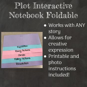 Plot Folded Paper Interactive Notebook Printable Template-  Use with Any Story