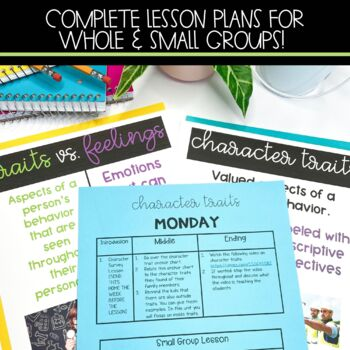 Character Traits, Motivations, & Feelings Full Lesson Plans with Activities