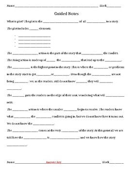 Plot Guided Notes