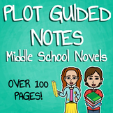 Plot Guided Notes for Middle School Novels Bundle