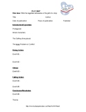 Plot Map, Summary, and Business Letter