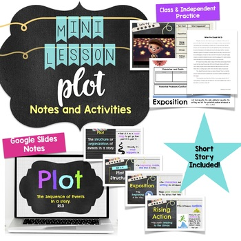 Plot Mini Lesson Notes and Activity for Middle School RL3
