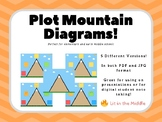 Plot Mountain Diagram Cute Graphic