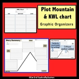 Plot Mountain Graphic Organizer and KWL for ANY Short Story