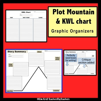 original 1850528 1 plot mountain graphic organizer and kwl for any short story by kim kroll