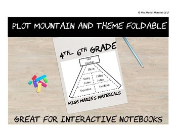 Plot Mountain and Theme Foldable