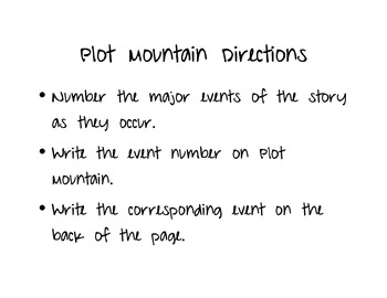 Plot Mountain- teaching elements of plot