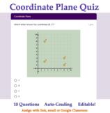 Plot Points on Coordinate Plane 5th Grade Quiz -Google For