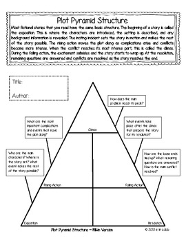 Plot pyramid freebie graphic organizer with guiding for Story pyramid template