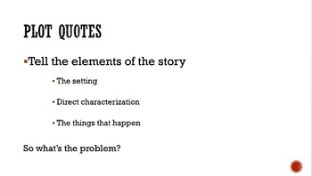Plot Quotes vs. Meaning Quotes