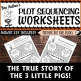 Plot Sequencing Worksheet   The True Story of the 3 Little Pigs