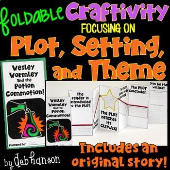 Plot, Setting, Theme Foldable Craftivity (with story!)
