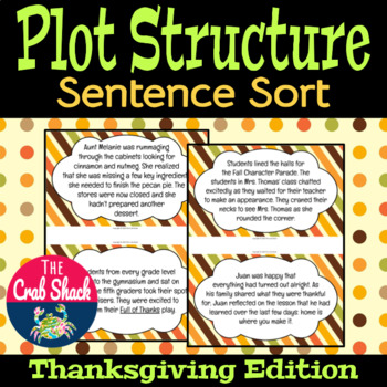 Plot Structure Sentence Sort *Thanksgiving Edition*