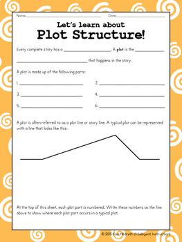 Plot Structure: Two-Sided Scaffolded Notes with Two-Sided Practice Page