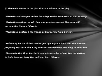 Plot Summary Macbeth