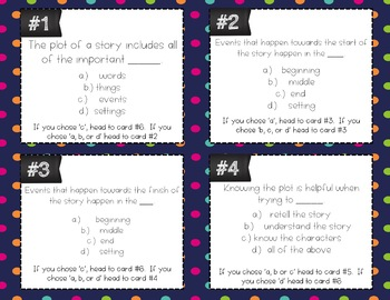 Plot Task Cards (Differentiated)