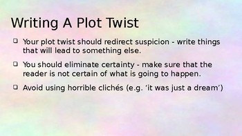 Plot Twist Writing
