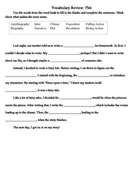 Plot Vocabulary Quiz