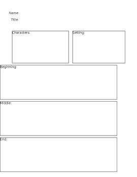 Plot Worksheet