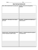 Plot Writing Planning Organizer - Intermediate Grades