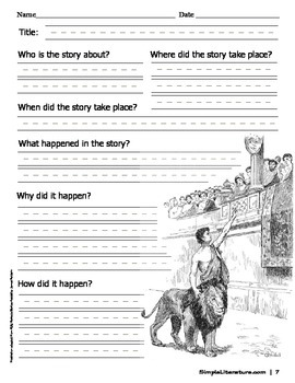 Plot and Character Graphic Organizers  (Grades 1, 2, & 3)