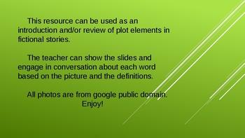 Plot and Story Elements Vocabulary  TEK 3.8, 4.6