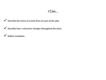 Plot and Text Analysis Powerpoint- Common Core CCSS.RL6.3