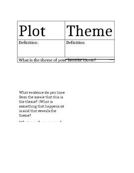 Plot and Theme Graphic Organizer