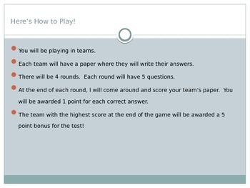 Plot and Theme Trivia Game